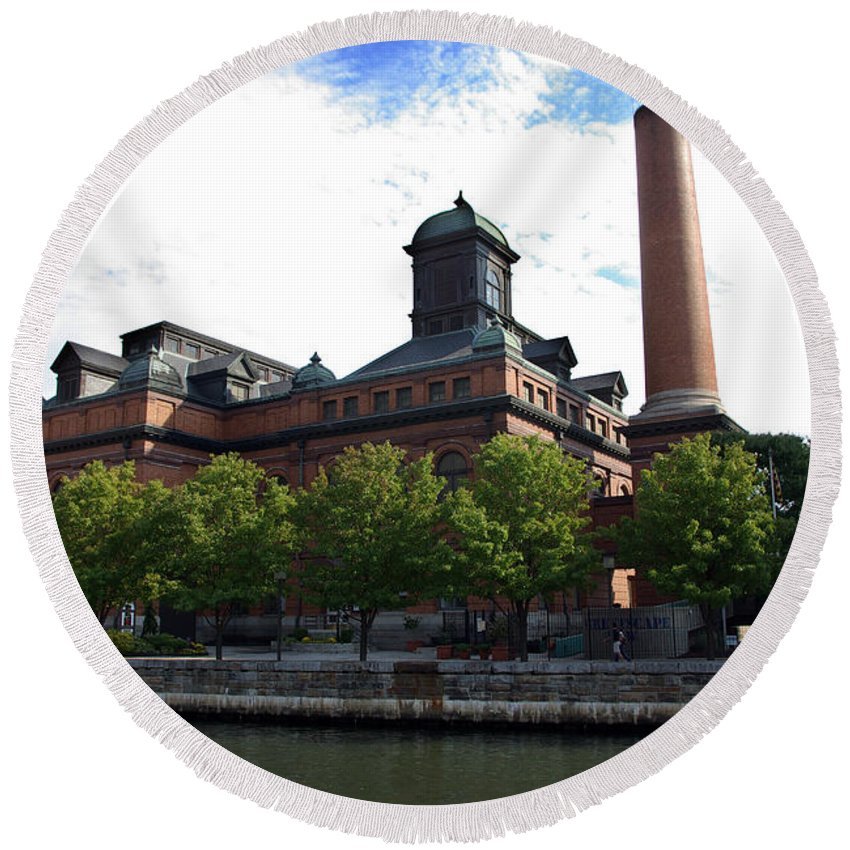 2d Round Beach Towel featuring the photograph Public Works Museum by Brian Wallace
