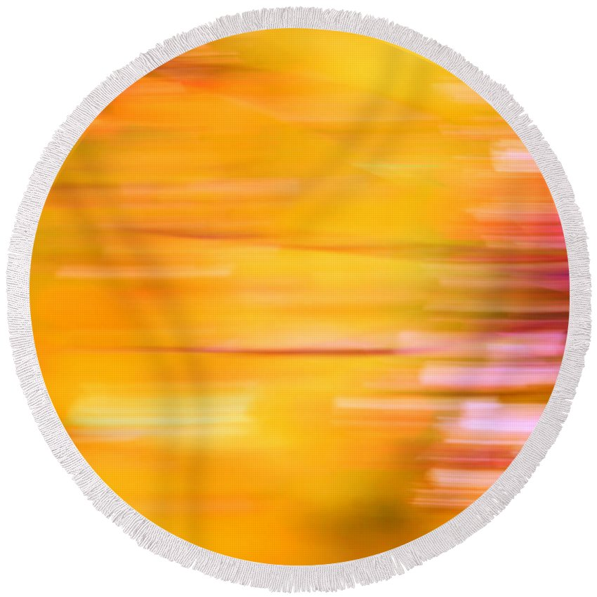 Orange Round Beach Towel featuring the photograph Rectangulism - S07a by Variance Collections