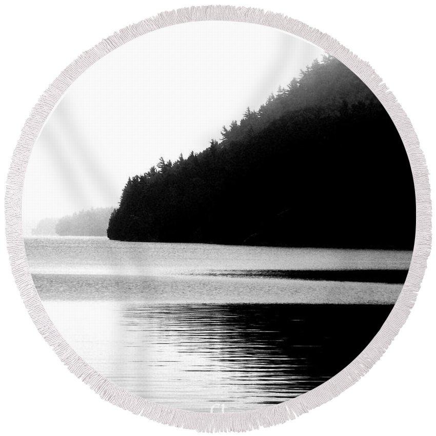 Black White Image Round Beach Towel featuring the digital art Reflect by Lizi Beard-Ward