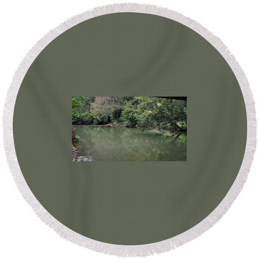 Water Round Beach Towel featuring the photograph Ripple by Rain Crow