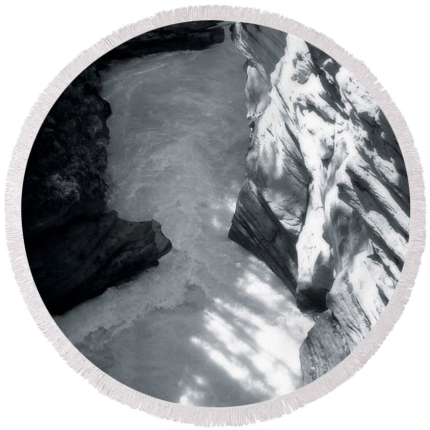 Landscape Round Beach Towel featuring the photograph River Fall Part 2 by Marcin and Dawid Witukiewicz
