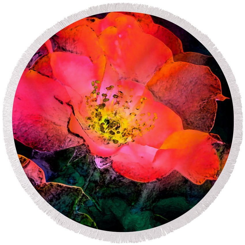 Floral Round Beach Towel featuring the photograph Rose 141 by Pamela Cooper