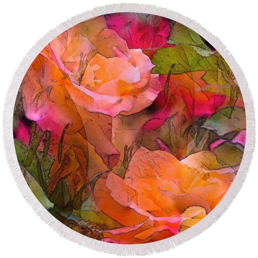 Floral Round Beach Towel featuring the photograph Rose 146 by Pamela Cooper