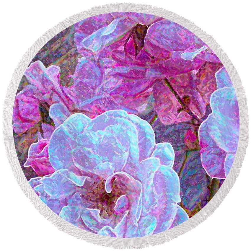 Floral Round Beach Towel featuring the photograph Rose 94 by Pamela Cooper