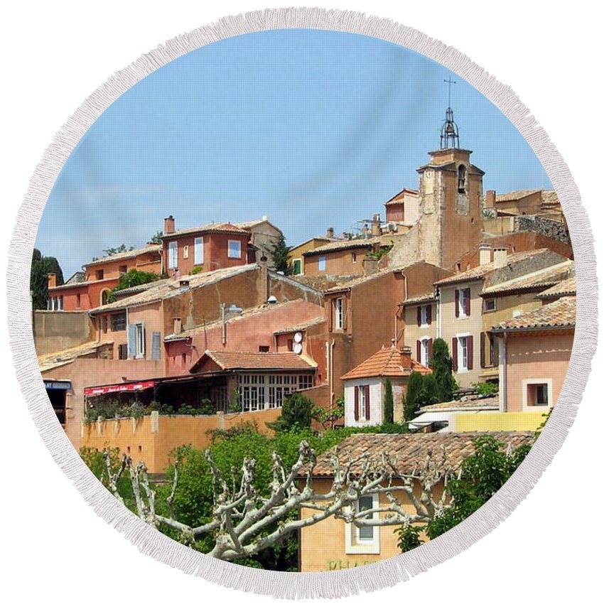 Roussillon Round Beach Towel featuring the photograph Roussillon In Provence by Carla Parris
