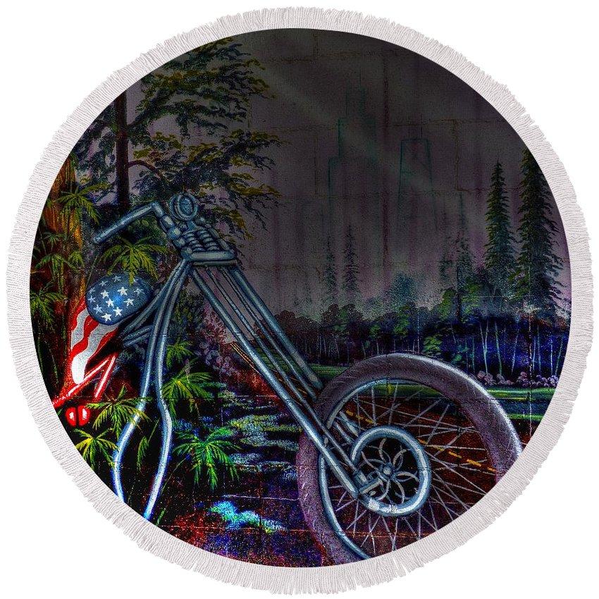 Route 66 Round Beach Towel featuring the photograph Route 66 Wall Art by Tommy Anderson