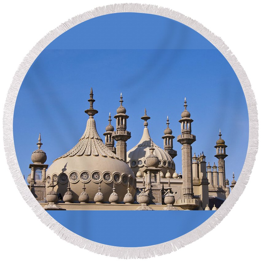 England Round Beach Towel featuring the photograph Royal Pavillion - Brighton England by Jon Berghoff