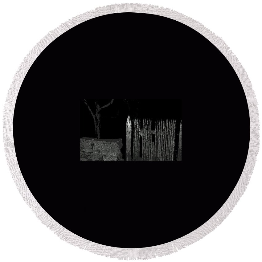 Landscape Round Beach Towel featuring the photograph Salem Noir I by Mike Greco