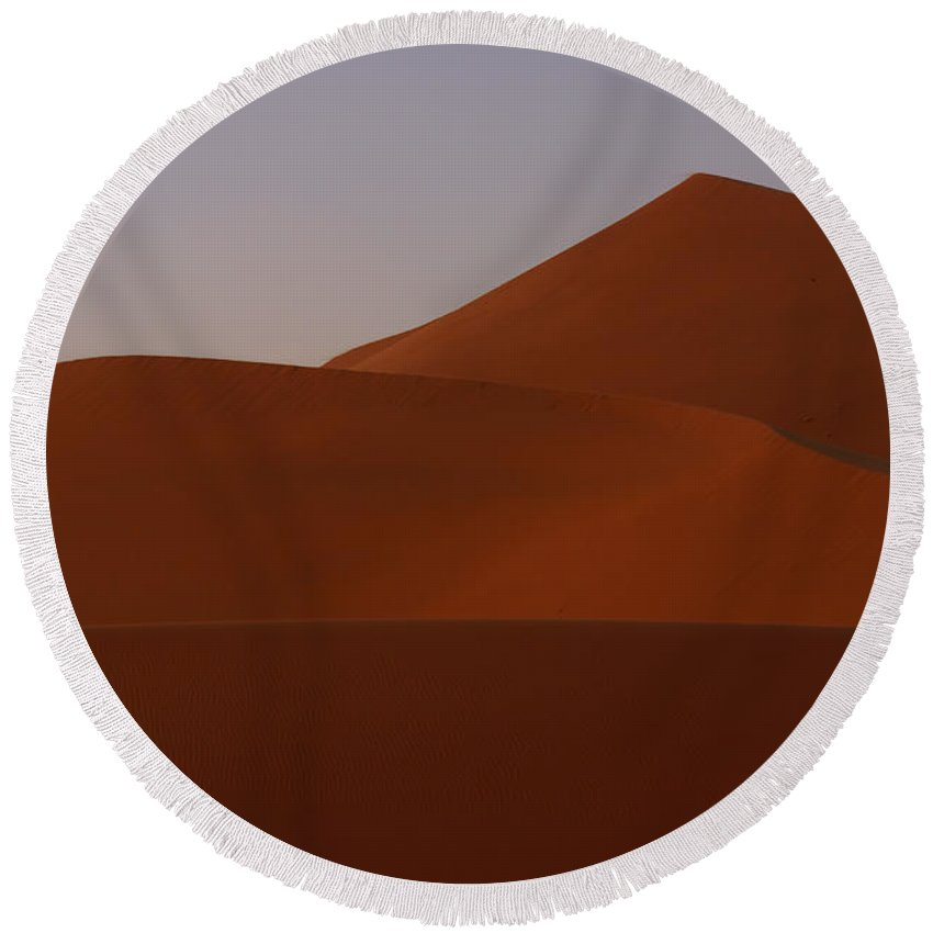 Sand Round Beach Towel featuring the photograph Sand Dunes by Ivan Slosar