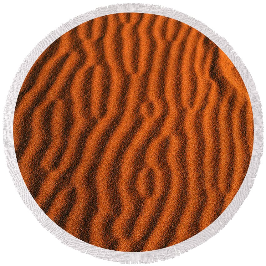 Africa Round Beach Towel featuring the photograph Sand Maze by Alistair Lyne