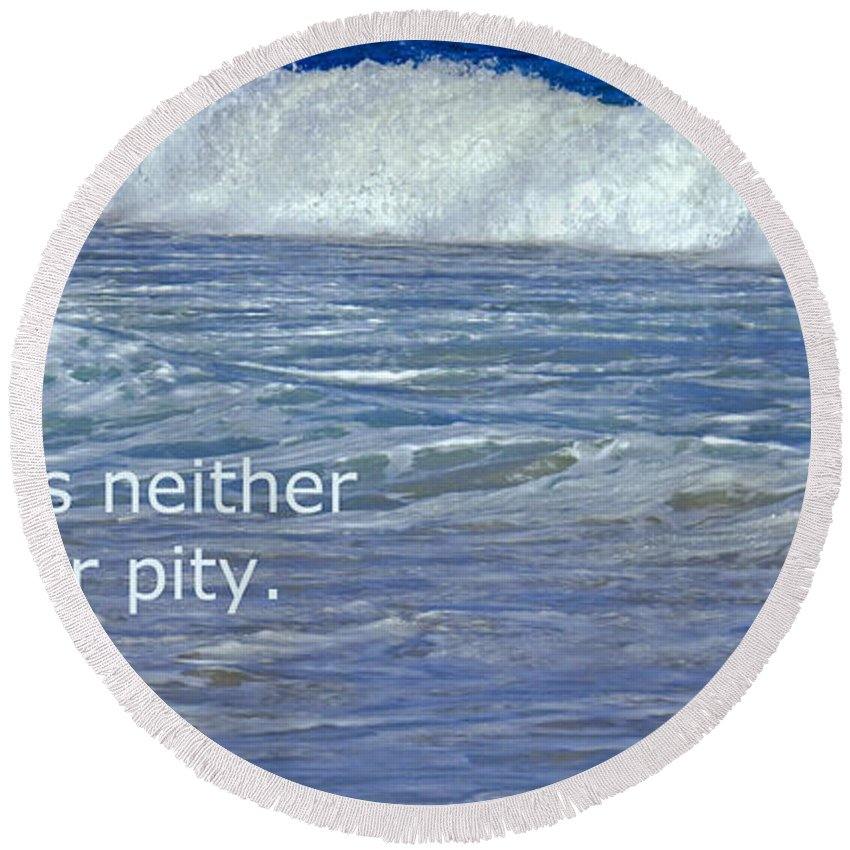 Sea Round Beach Towel featuring the photograph Sea Without Pity by Ian MacDonald