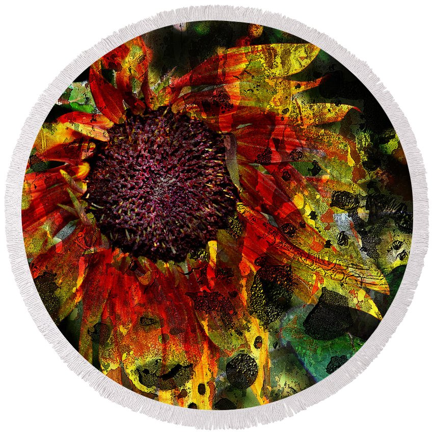 Jerry Cordeiro Round Beach Towel featuring the photograph Seeds To Sun by The Artist Project