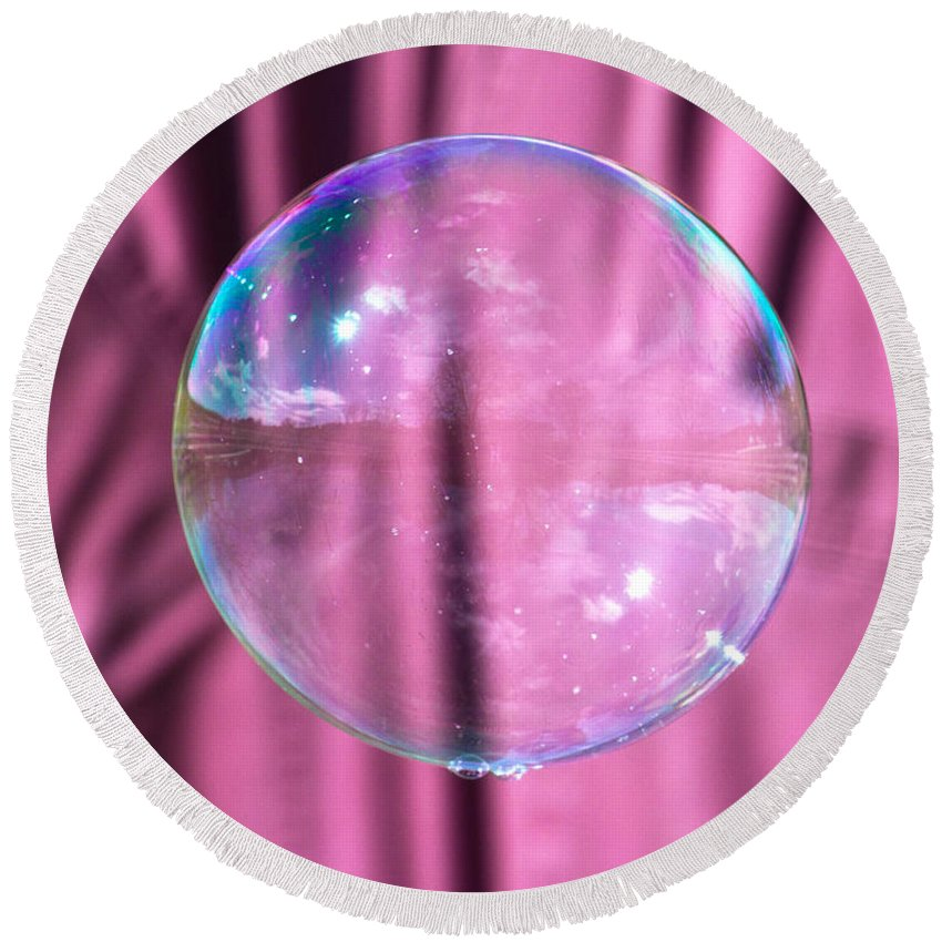 Bubble Round Beach Towel featuring the photograph Simple Reflections by Betsy Knapp