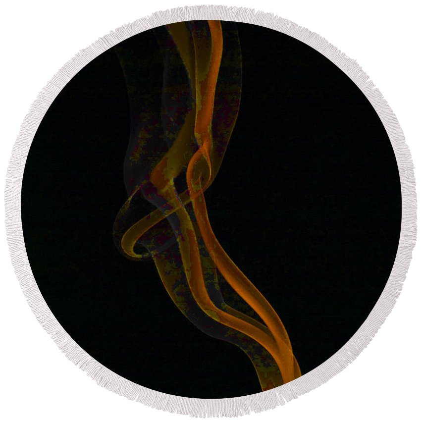 Smoke Trails Round Beach Towel featuring the photograph Smoke 3 by Steve Purnell