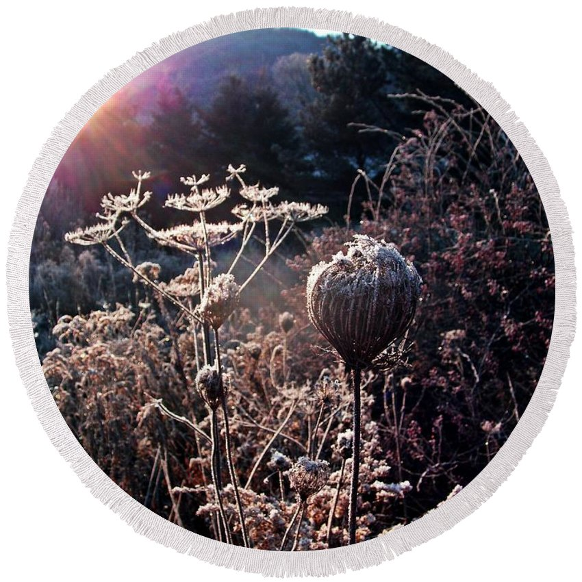 New York Round Beach Towel featuring the photograph Solomon's Sceptor by Christian Mattison