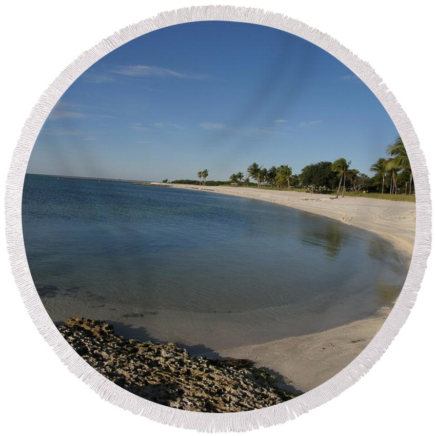 Beach Round Beach Towel featuring the photograph Sombrero Beach by Kimberly Mohlenhoff