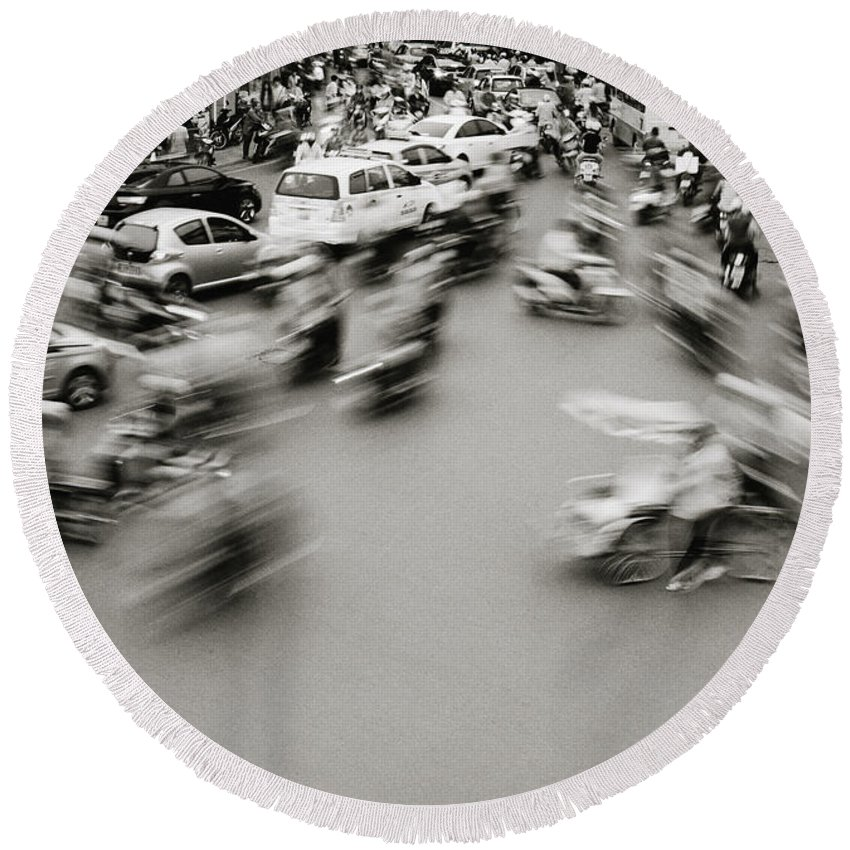 Asia Round Beach Towel featuring the photograph Speed by Shaun Higson