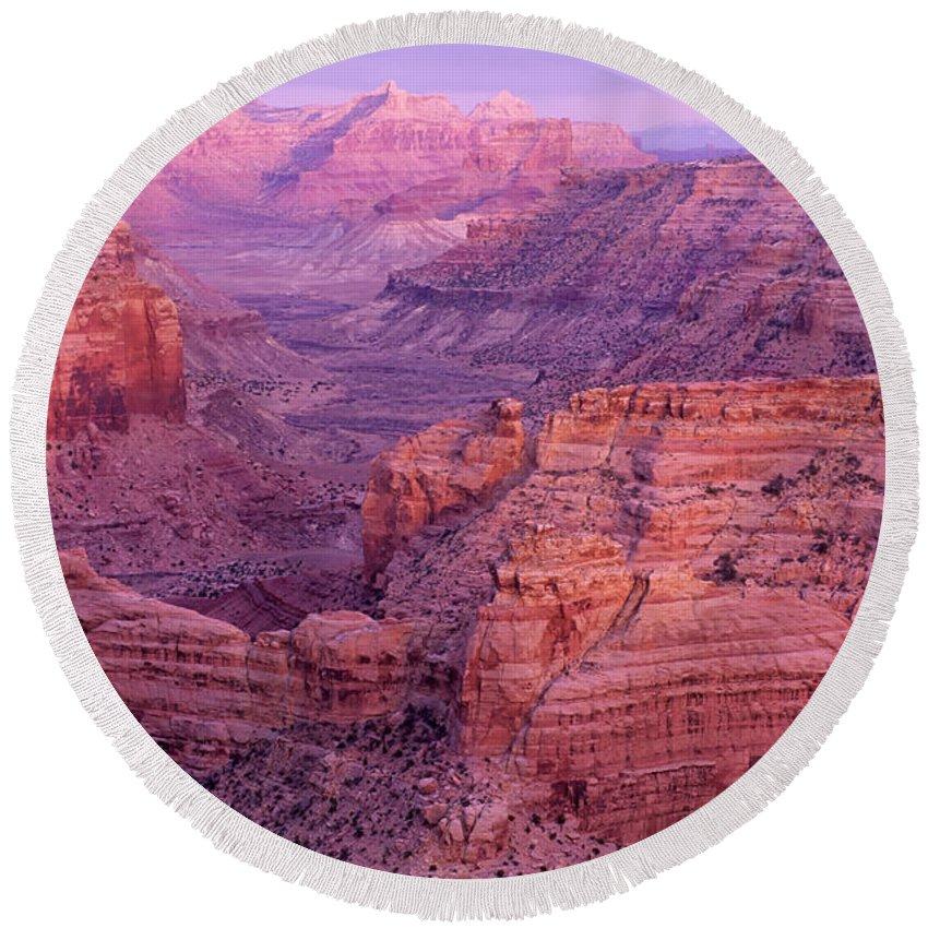 Utah Round Beach Towel featuring the photograph Splendor Of Utah by Bob Christopher