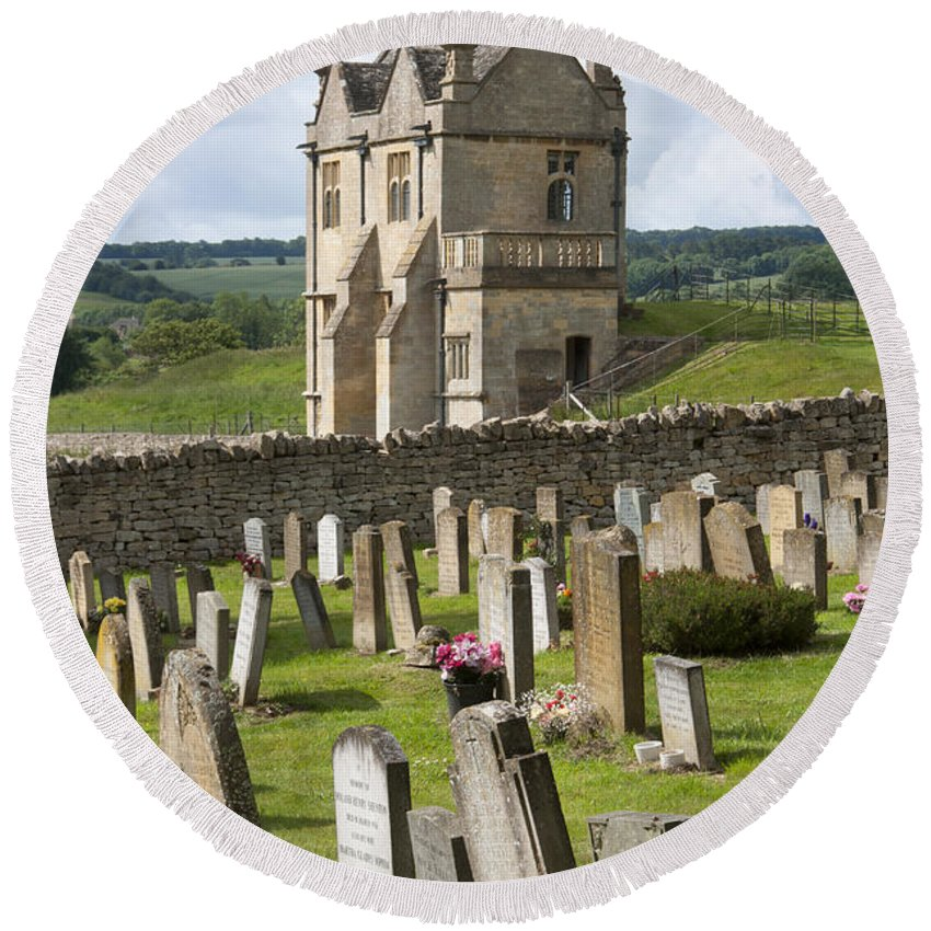2011 Round Beach Towel featuring the photograph St James Church Graveyard by Andrew Michael