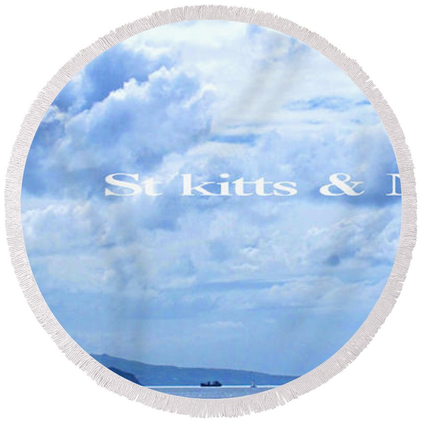 St Kitts Round Beach Towel featuring the photograph St Kitts And Nevis Poster by Ian MacDonald