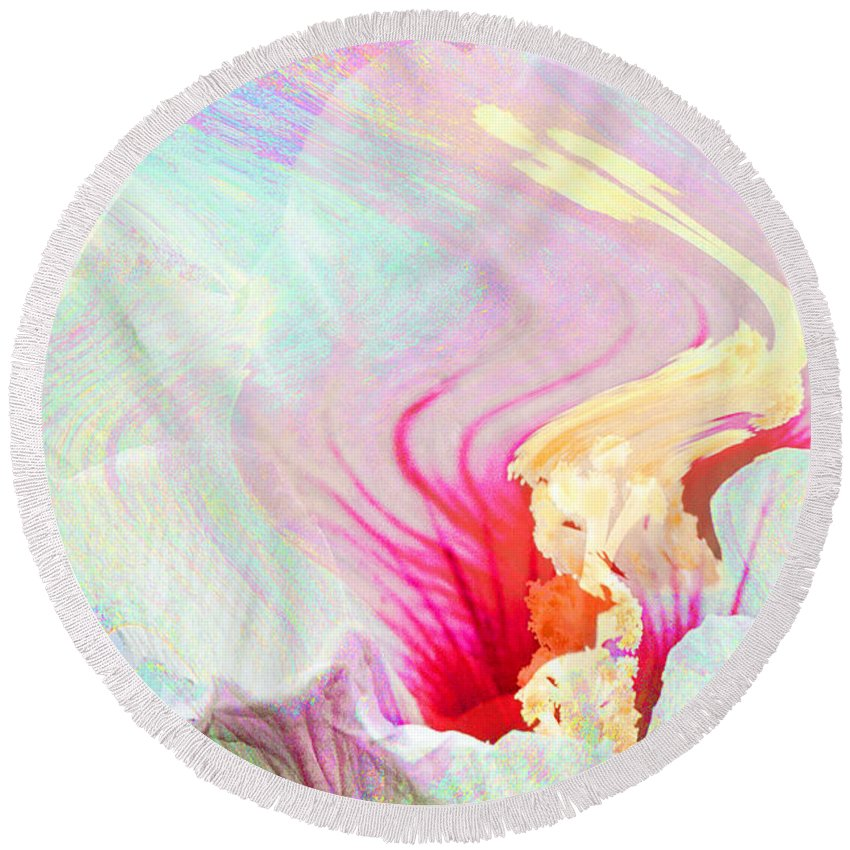 Flower Abstract Round Beach Towel featuring the photograph Summer Breeze by Regina Geoghan