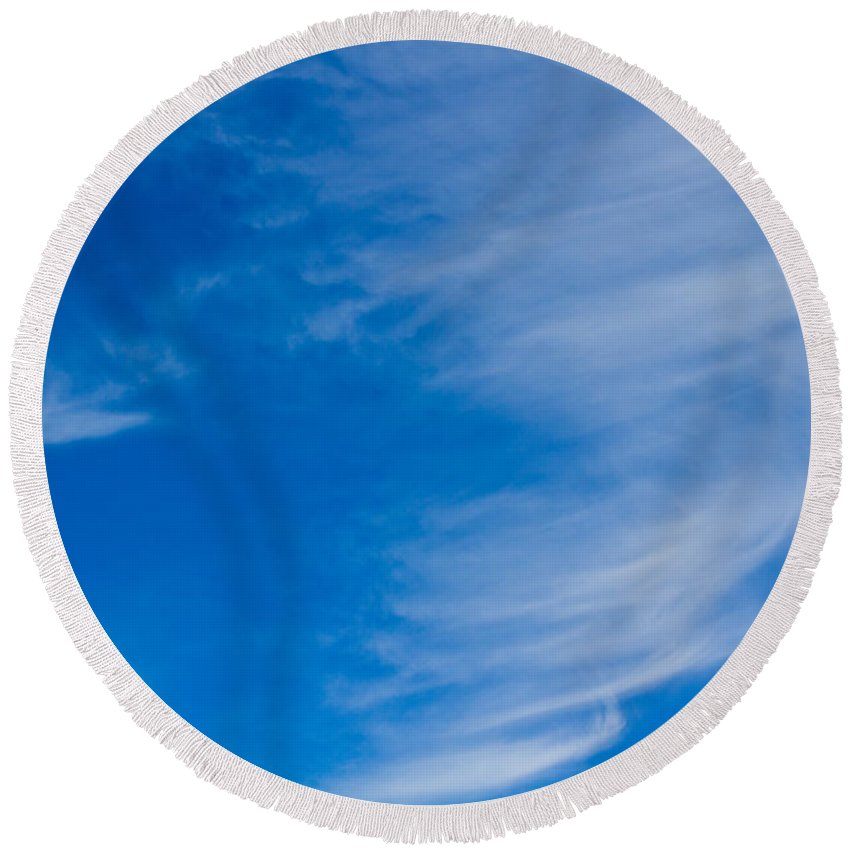 Clouds Round Beach Towel featuring the photograph Summer Cloud Images by David Pyatt
