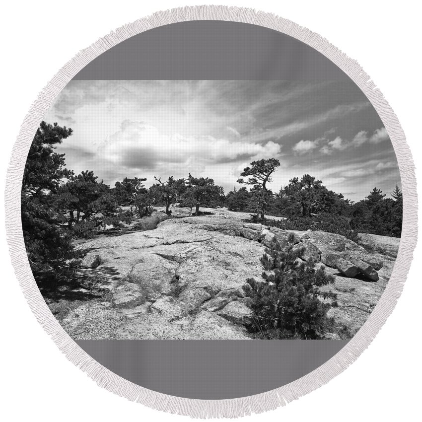 Maine Round Beach Towel featuring the photograph Summit by David Rucker