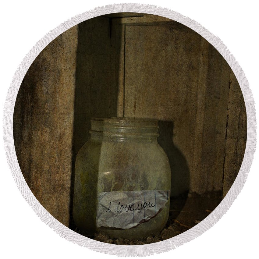 Jerry Cordeiro Photographs Framed Prints Round Beach Towel featuring the photograph The Endless Jar by The Artist Project