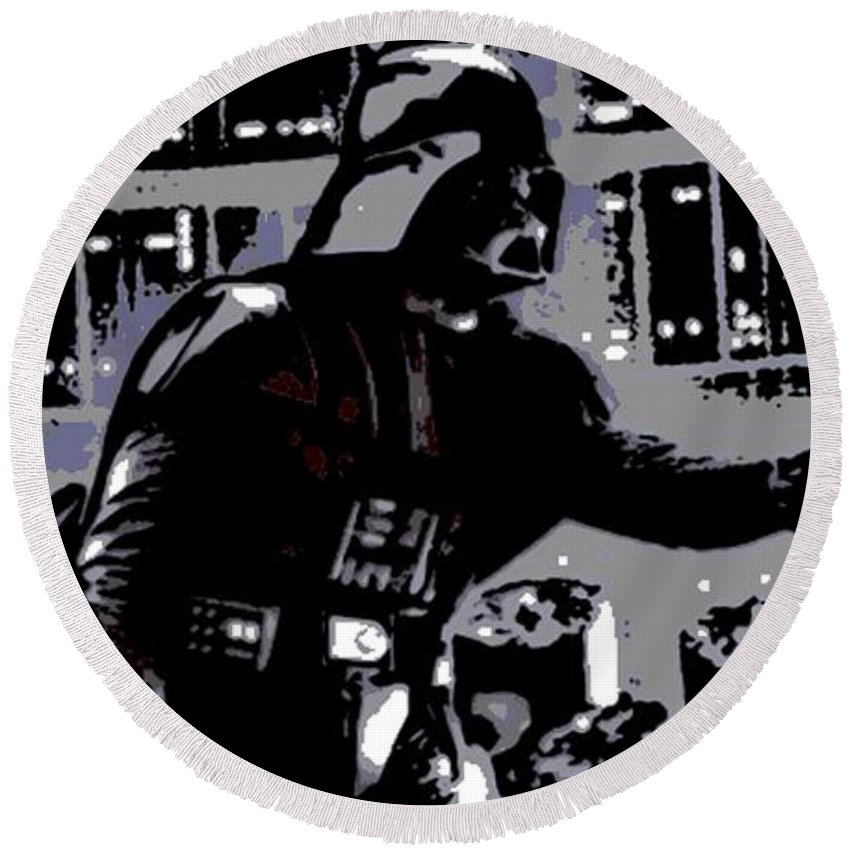 Darth Vader Round Beach Towel featuring the photograph The Force by George Pedro