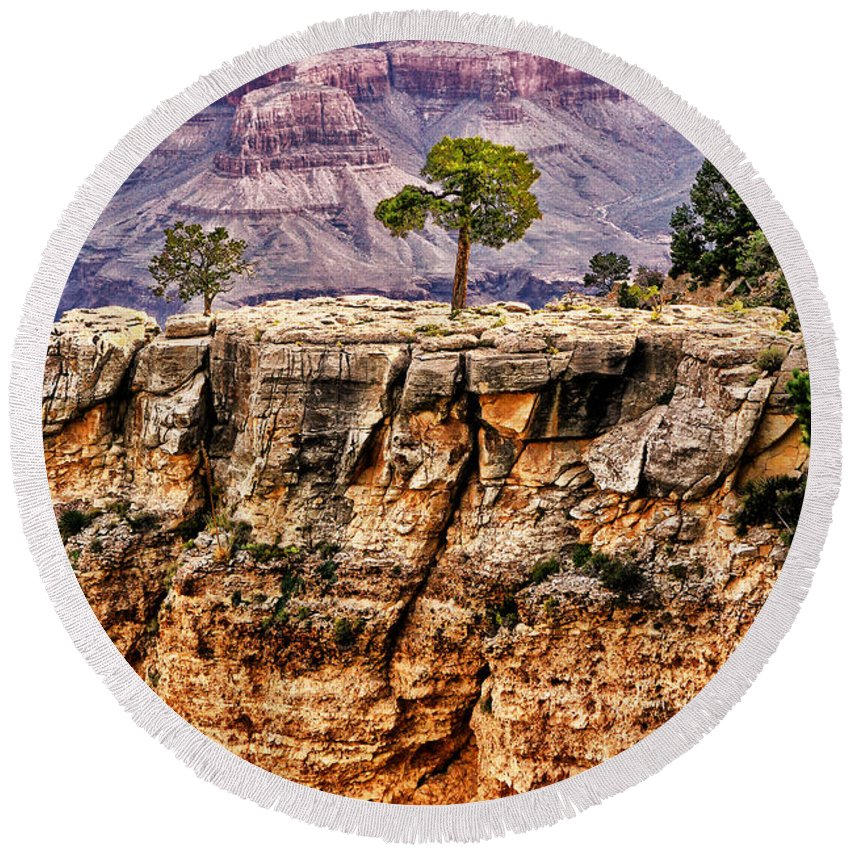 Arizona.the Grand Canyon Round Beach Towel featuring the photograph The Grand Canyon Iv by Tom Prendergast