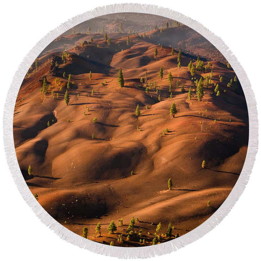 Painted Dunes Round Beach Towel featuring the photograph The Painted Dunes by Greg Nyquist