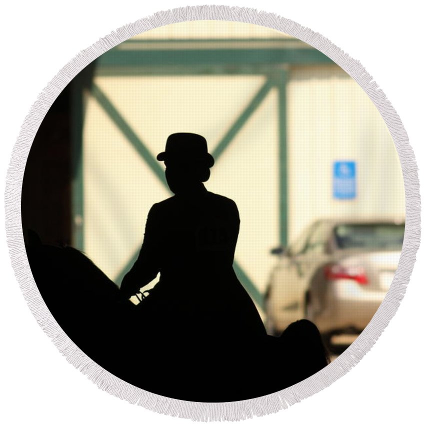 Silhouette Round Beach Towel featuring the photograph The Silhouette by Laddie Halupa