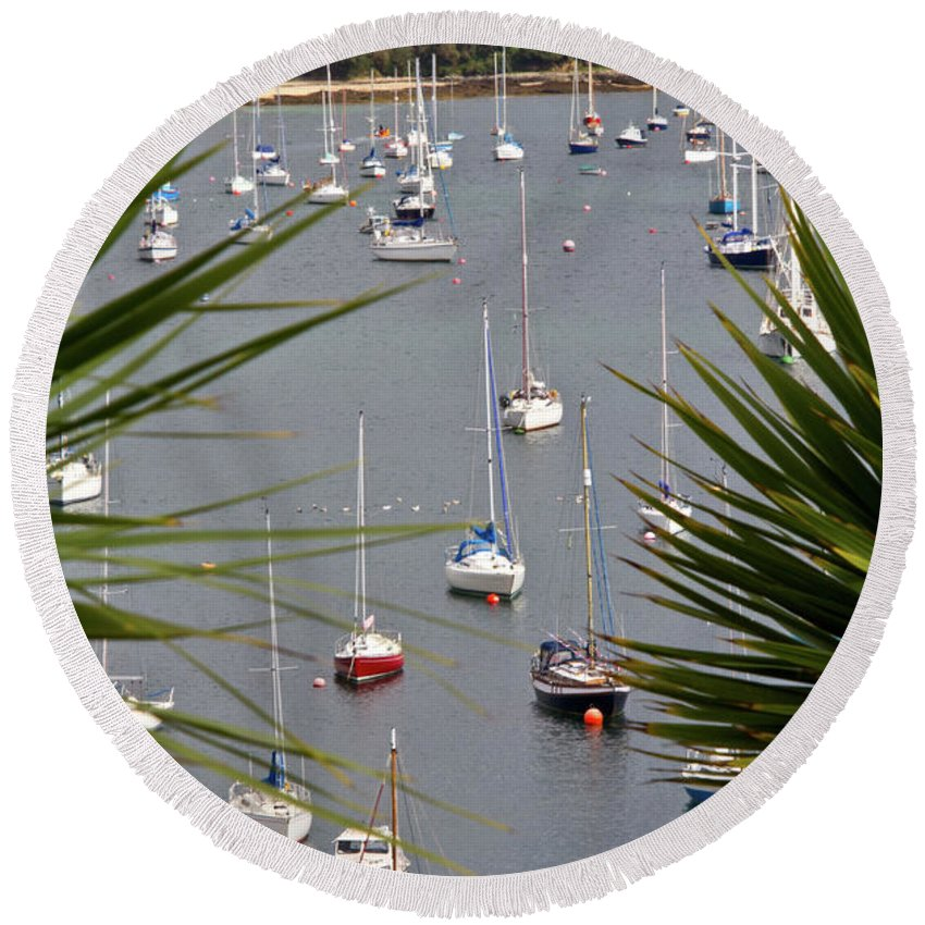 Falmouth Round Beach Towel featuring the photograph Tranquillity by Brian Roscorla