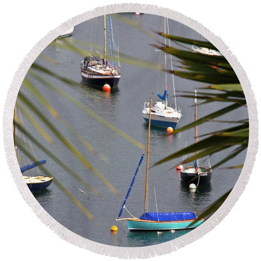 Falmouth Round Beach Towel featuring the photograph Tranquillity Two by Brian Roscorla