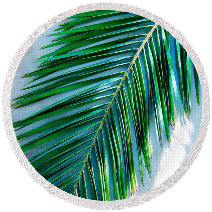 Tropical Round Beach Towel featuring the photograph Tropical by Susanne Van Hulst