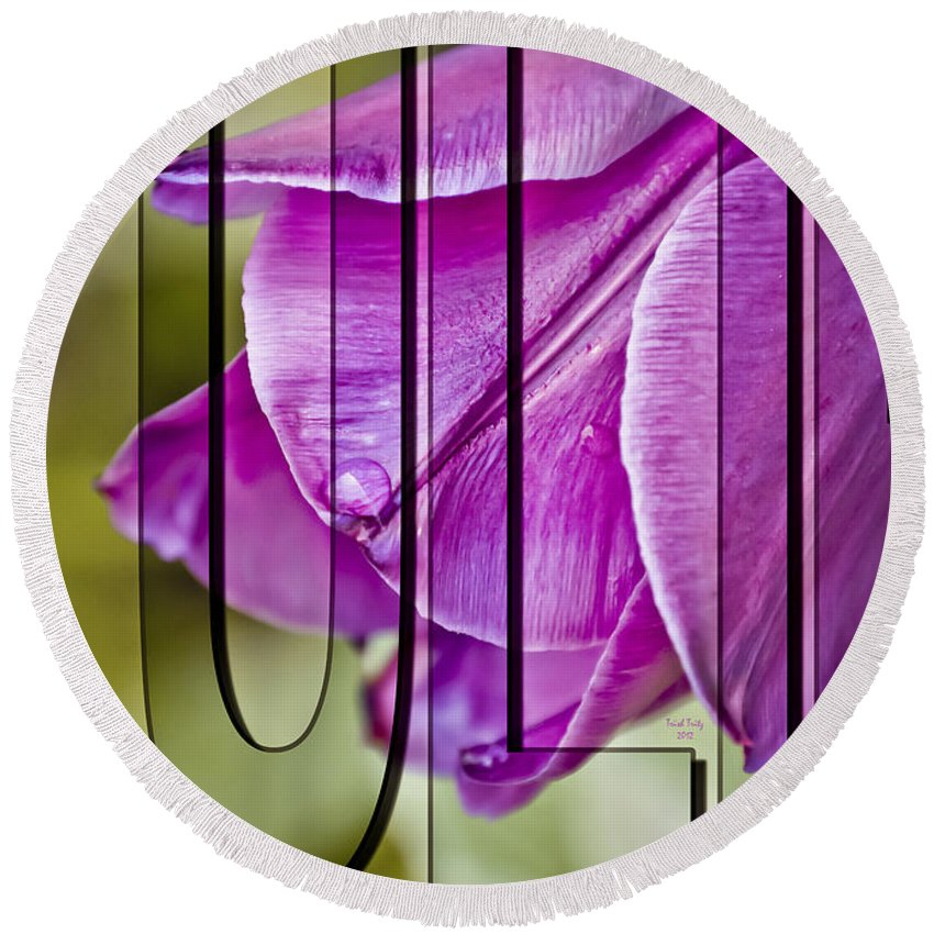 Flower Round Beach Towel featuring the photograph Tulip by Trish Tritz