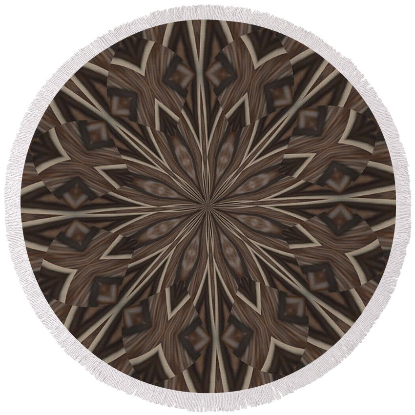 Kaleidoscope Round Beach Towel featuring the photograph Very Difference by Donna Brown