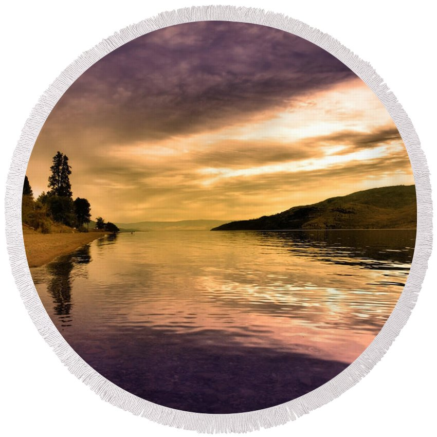Reflections Round Beach Towel featuring the photograph Waiting With The Light by Tara Turner