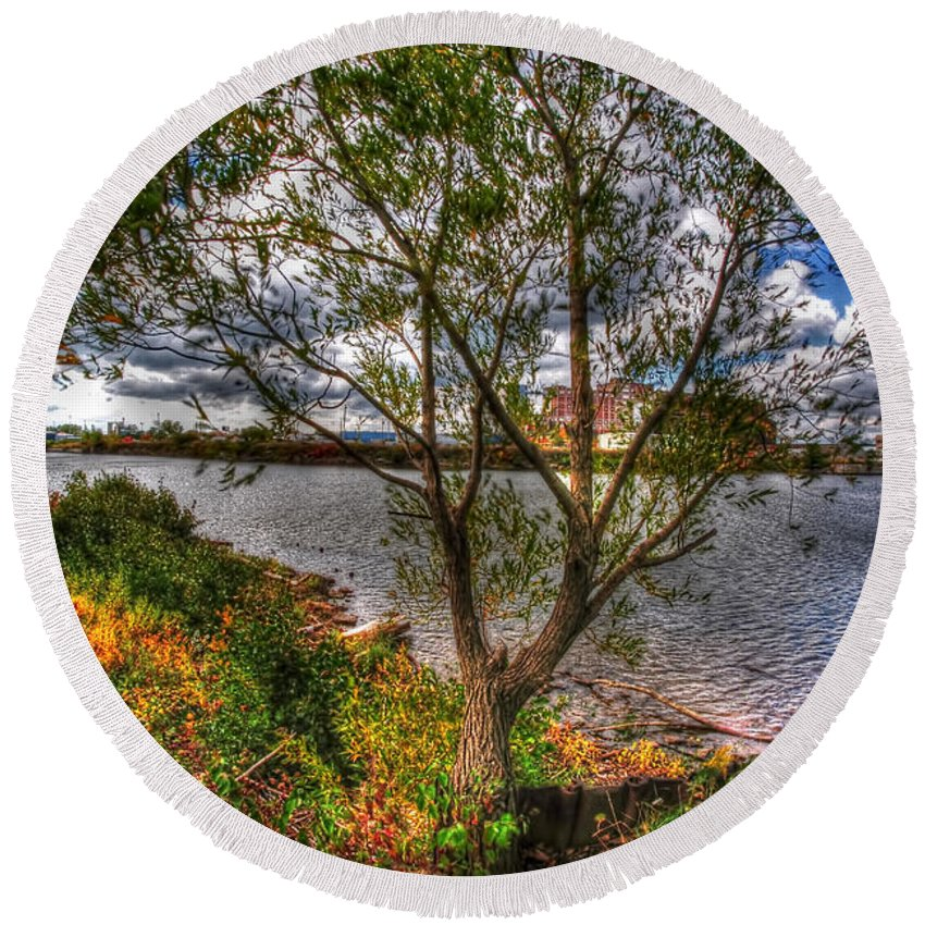 Round Beach Towel featuring the photograph When The Wind Whistles by Michael Frank Jr