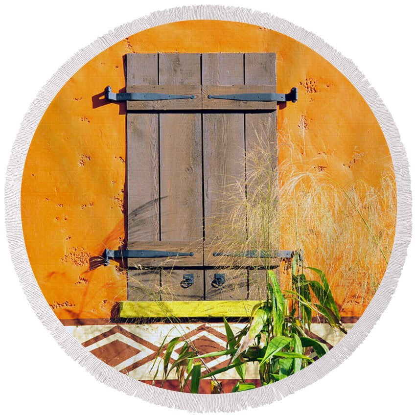 Fine Art Photography Round Beach Towel featuring the photograph Window To Africa by David Lee Thompson