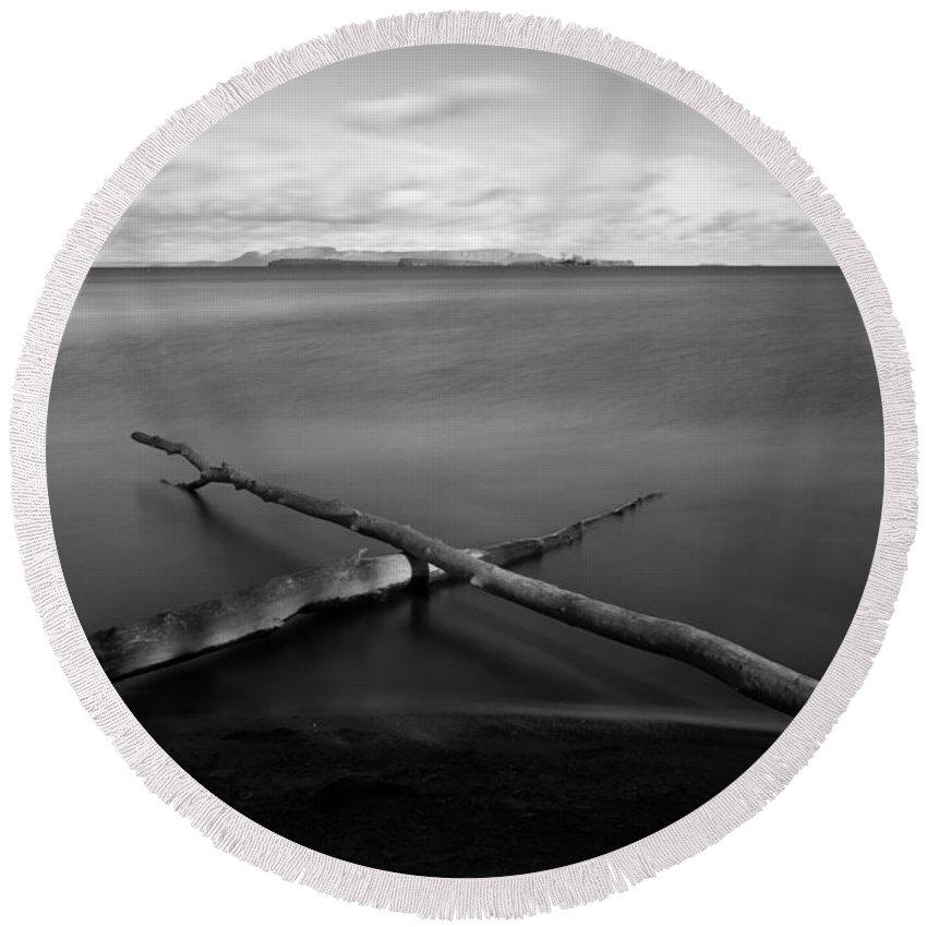 Autumn Round Beach Towel featuring the photograph X by Jakub Sisak