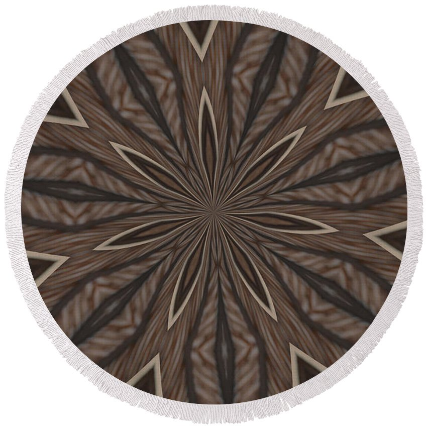 Kaleidoscope Round Beach Towel featuring the photograph Zebra Stripes by Donna Brown
