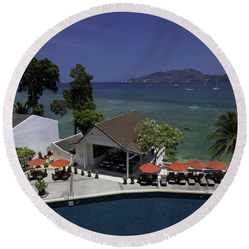 Beautiful Round Beach Towel featuring the photograph Phuket Thailand by Anthony Totah