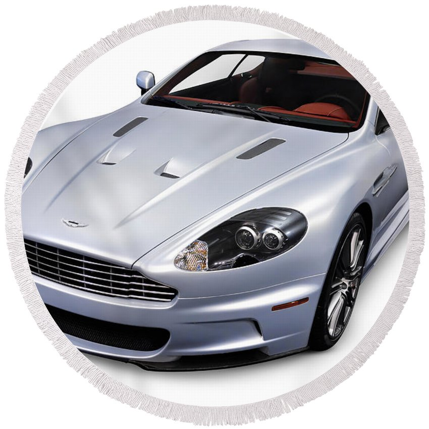 2009 Round Beach Towel featuring the photograph 2009 Aston Martin Dbs by Maxim Images Prints