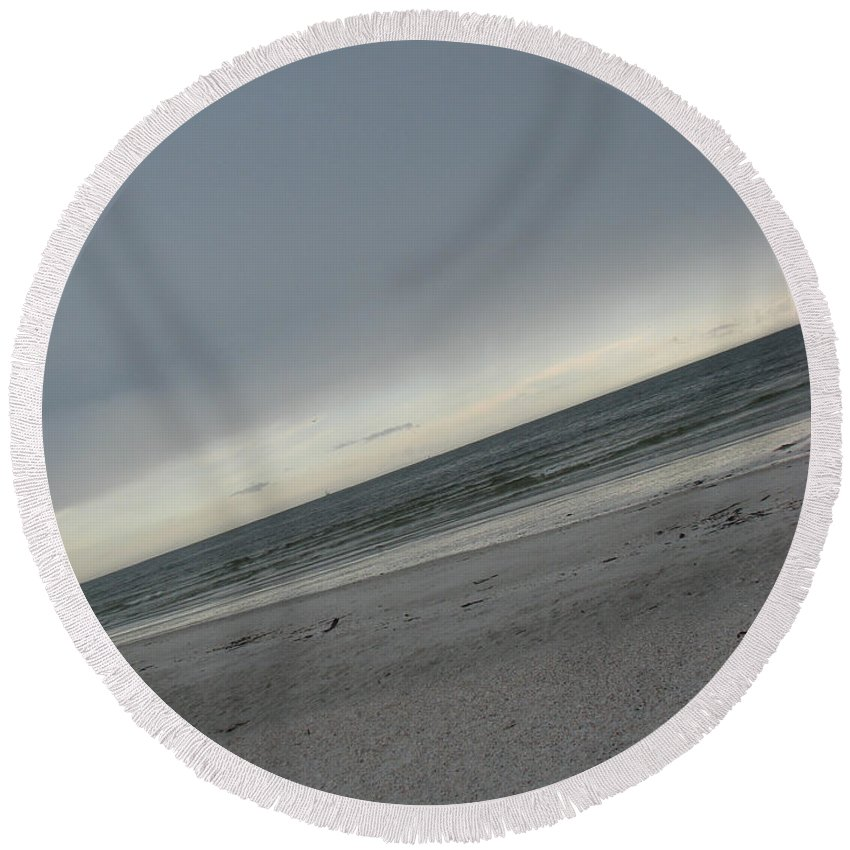 Ocean Round Beach Towel featuring the photograph Abstract Sea by Amanda Barcon
