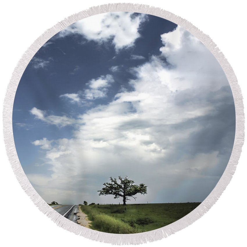 Landscape Round Beach Towel featuring the photograph After The Storm by Al Mueller