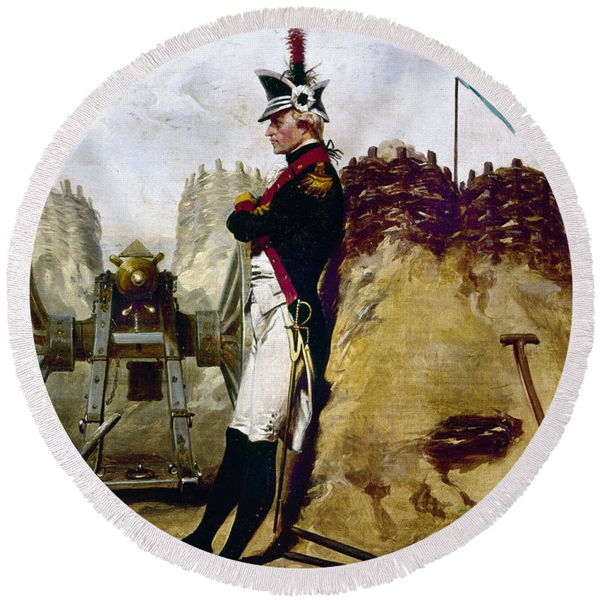 1781 Round Beach Towel featuring the photograph Alexander Hamilton by Granger