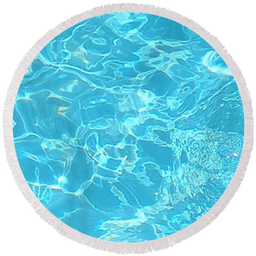 Water Round Beach Towel featuring the photograph Aquatica by Maria Bonnier-Perez