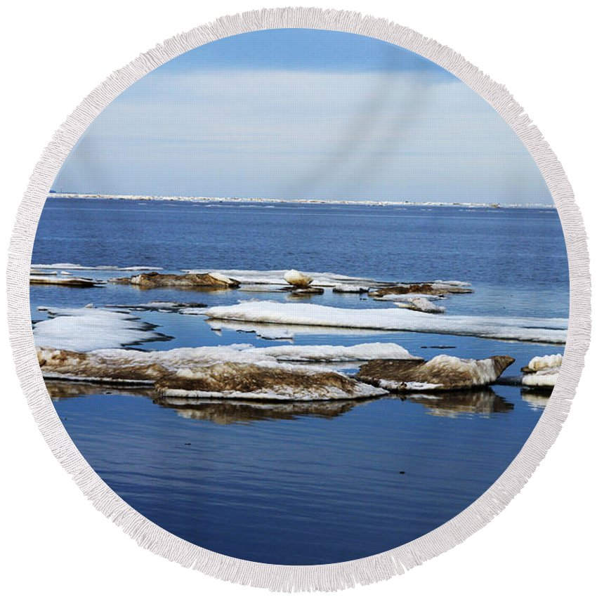 Ice Round Beach Towel featuring the photograph Arctic Ice by Anthony Jones