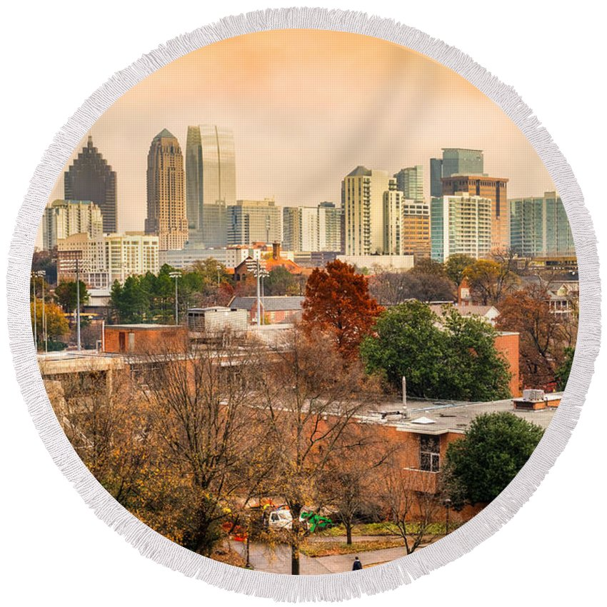 Atlanta Round Beach Towel featuring the photograph Atlanta - Georgia - Usa by Luciano Mortula